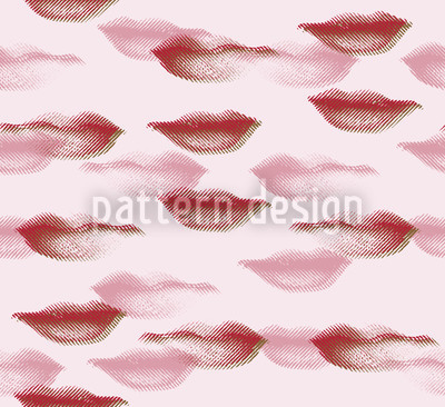 Terror Lips Seamless Vector Pattern