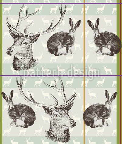 Where Stag And Hare Pattern Design