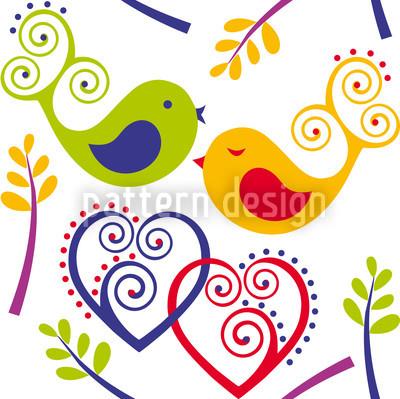 Verliebte Vögel Designmuster
