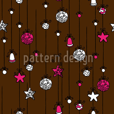 Christmas Tree Decorations Repeat Pattern