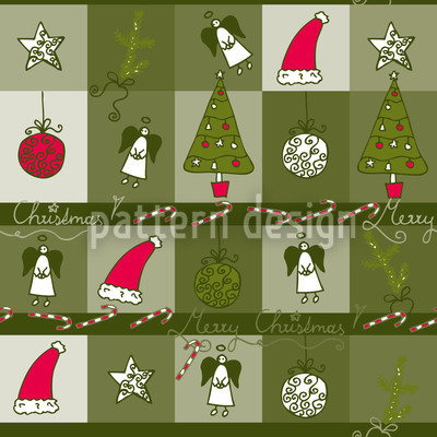 Christmas Dream Green Pattern Design