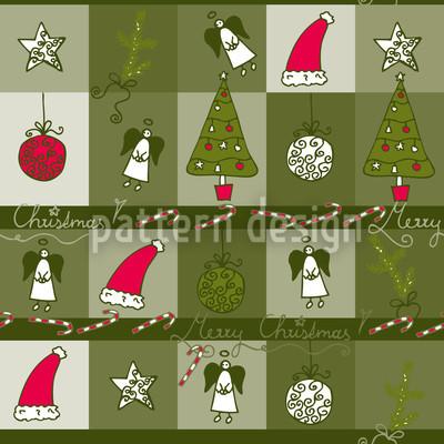 Weihnachtstraum Grün Muster Design