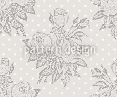 Rose Cavalier Grey Seamless Pattern