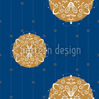 Stilisierte Christbaumkugeln Muster Design