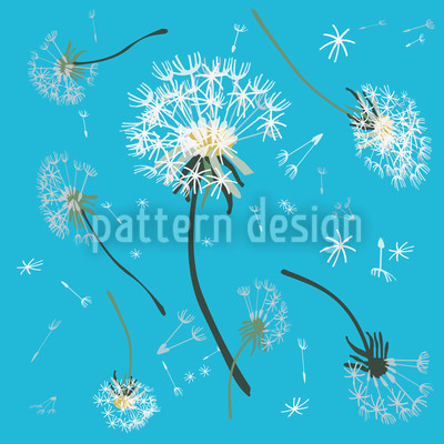 Pusteblumen Blau Vektor Muster