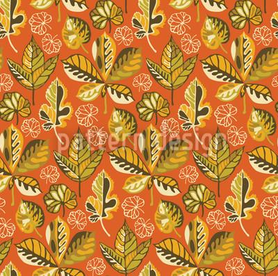 Blattgold Abendsonne Nahtloses Muster