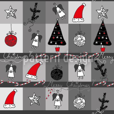 Weihnachtstraum Anthrazit Nahtloses Muster