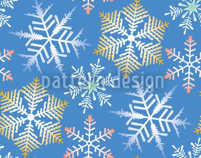 Crystal Night Light Blue Pattern Design