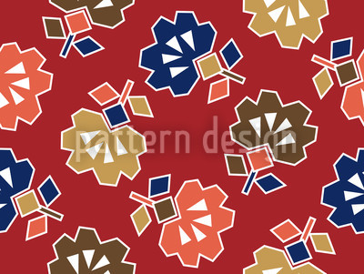 Spiky Red Seamless Pattern