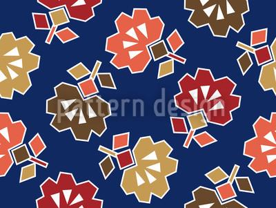 Zickzack Blau Nahtloses Vektor Muster
