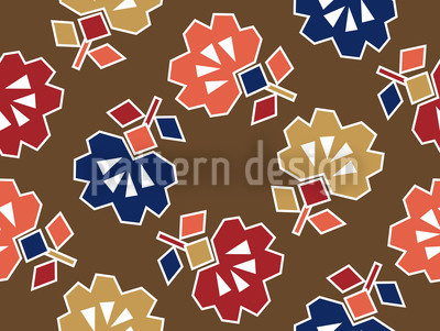 Spiky Brown Vector Pattern