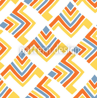 Boomerang White Repeating Pattern