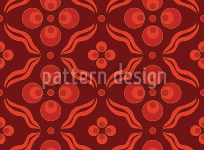 Ottomani Rot Vektor Muster