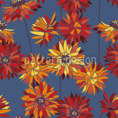 Strawflowers Seamless Vector Pattern