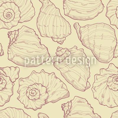 Meeresmuscheln Gelb Muster Design