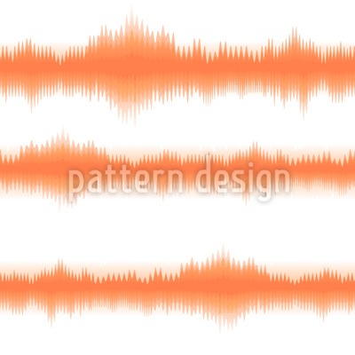 Batik Stripes Orange Seamless Vector Pattern