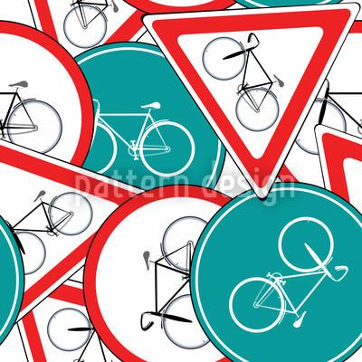 Fahrrad Verkehrszeichen Muster Design