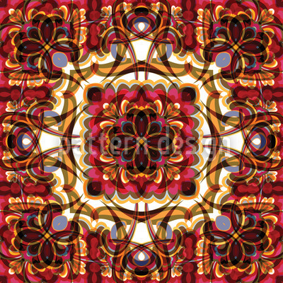 Abstract Orient Repeat Pattern