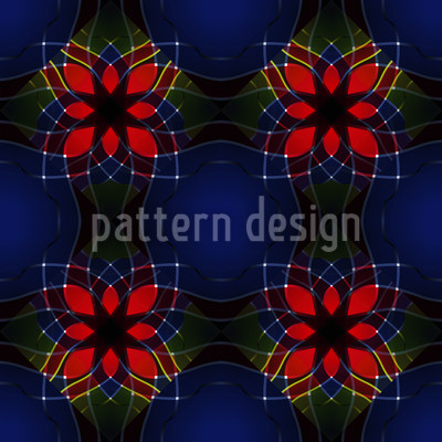 Kaleidoscopic Flowers Seamless Pattern