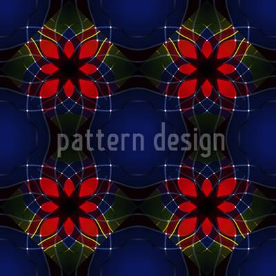 Kaleidoskopische Blumen Nahtloses Muster
