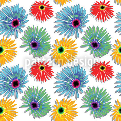 Colourful Flower Repeat