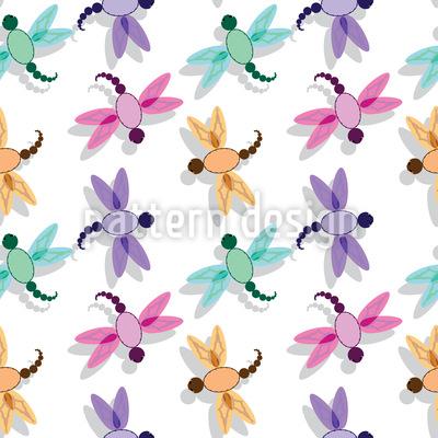 Flug Der Libelle Nahtloses Muster