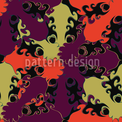 Florale Flicken Nahtloses Vektor Muster