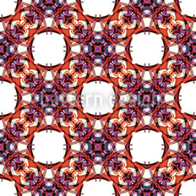 Gotisches Kaleidoskop Vektor Muster