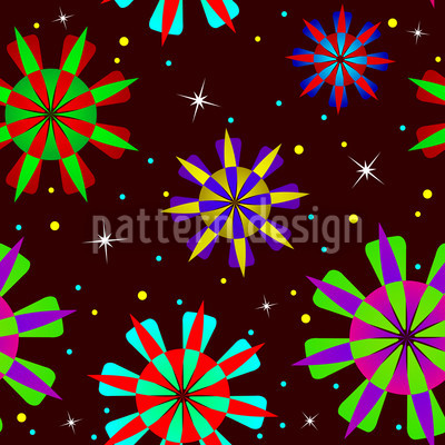 Stardust Party Seamless Vector Pattern