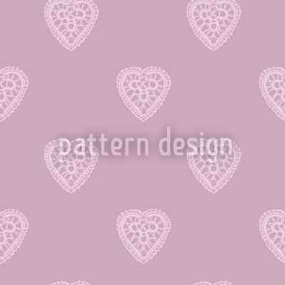 Hellrosa Romantische Herzen Designmuster
