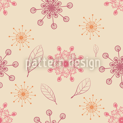 Dancing Flakes Apricot Vector Ornament