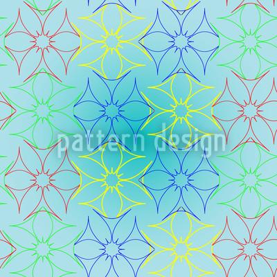 Metal Floral Seamless Pattern