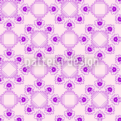Dame Violet Repeat Pattern