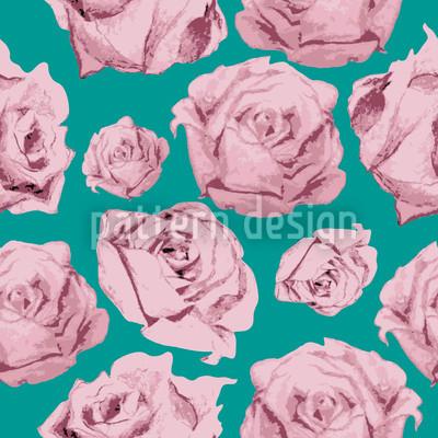 Art Rose Smaragd Vektor Ornament