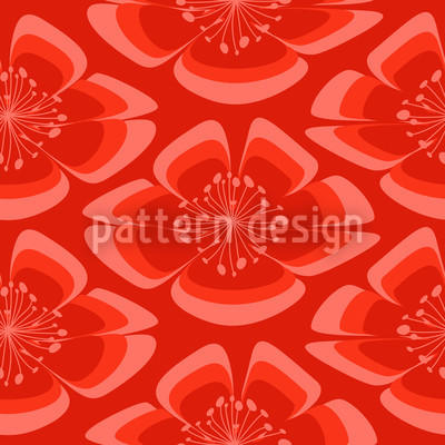 Flores Rot Designmuster