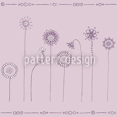 Magic Meadow Purple Pattern Design