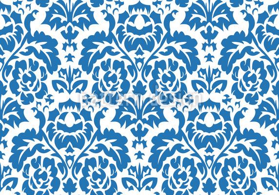 Opulent Blau Musterdesign
