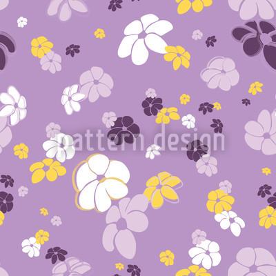 Blumenregen In Flieder Musterdesign