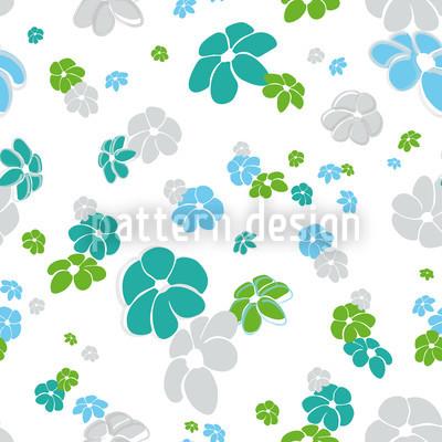 Blumenregen In Weiss Vektor Ornament