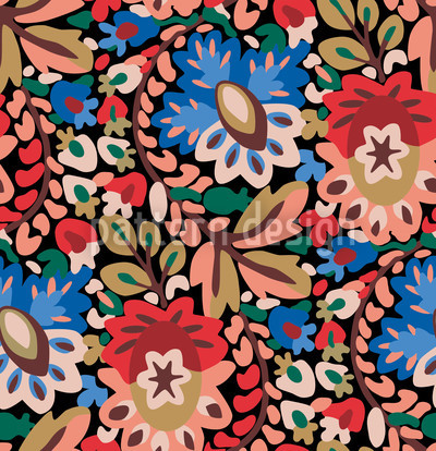 Garden Of Pan Summer Pattern Design