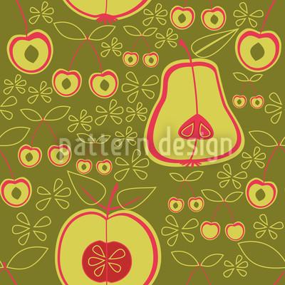 Fruit Garden Green Pattern Design