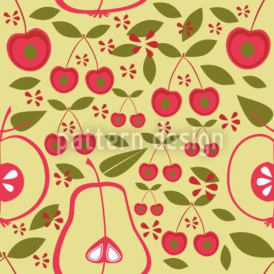 Obstgarten Beige Nahtloses Muster