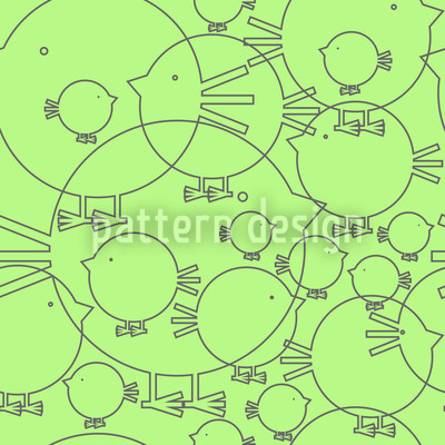Piepsi In Spring Vector Pattern