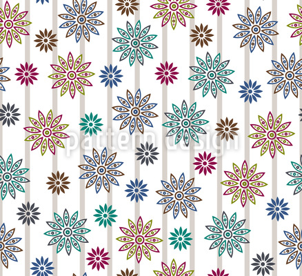 Silvias Blumen Extrem Nahtloses Muster