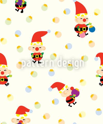 Santas Elfen Muster Design