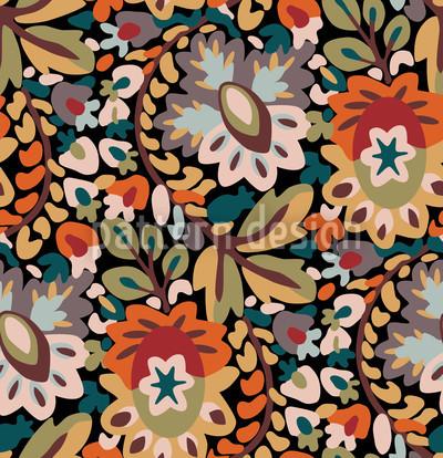 Garden Of Pan Autumn Pattern Design