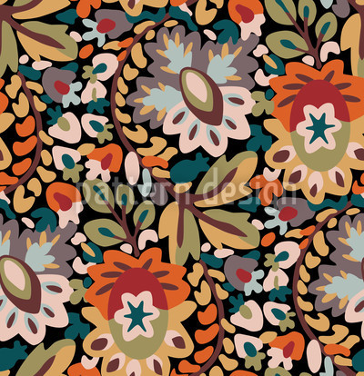Garten Des Pan Herbst Musterdesign