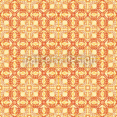 Arabic Gold Vector Pattern
