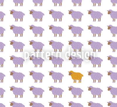 Das Orange Schaf Muster Design