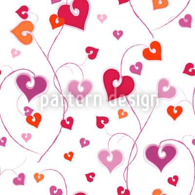 Heart Crest Seamless Vector Pattern